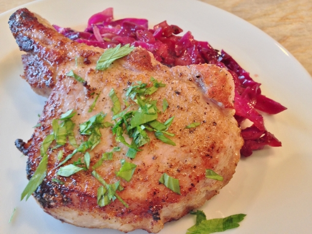 Spiced Pork Chops with Sweet & Sour Cabbage – Recipe!  Paleo Friendly! Image 1