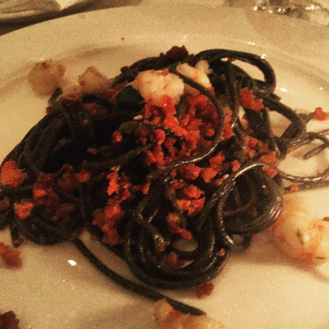 Here it is  Squid Ink Pasta with Rock Shrimphellip