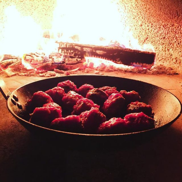 Wood Fired Meatballs! Nothing Better!! livelovelaughfood eaterla tastingtable foodblogger latimesfoodhellip