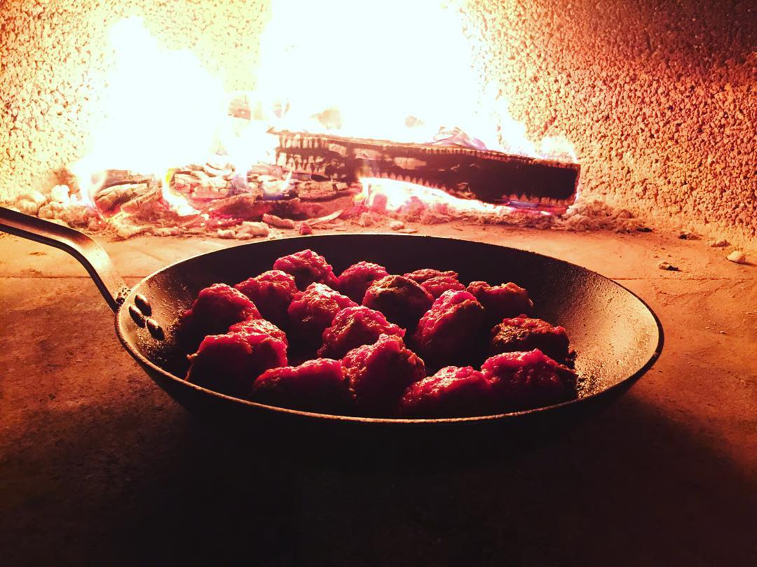 Wood Fired Meatballs! Nothing Better!! livelovelaughfood eaterla tastingtable foodblogger latimesfoodhellip