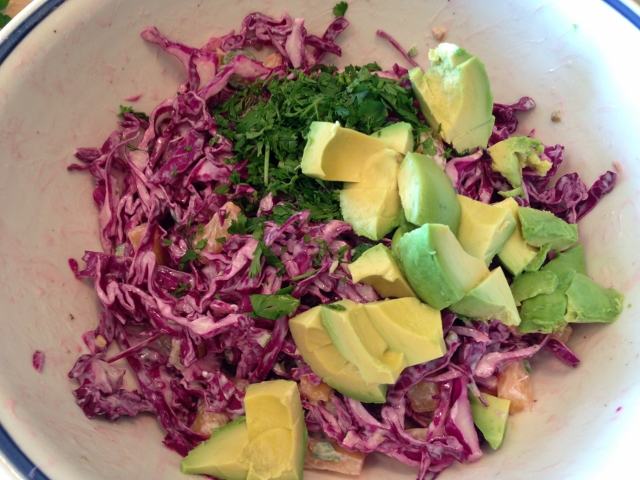 Achiote Grilled Salmon with Pineapple Slaw 067 (640x480)