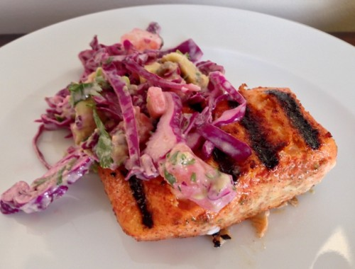 Annatto Grilled Salmon with Pineapple Slaw – Recipe!  Celebrate Cinco de Mayo!
