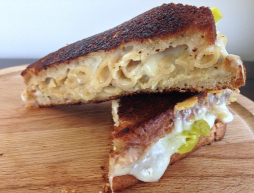 Mac & Cheese Grilled Cheese Sandwich – Recipe!  Yes I Did!
