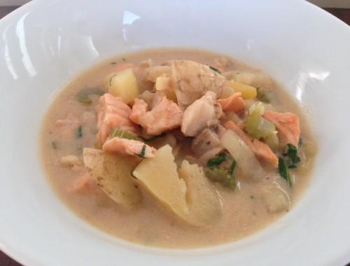 Easy Mixed Seafood Chowder – Recipe!  Whole30, Paleo & Gluten-Free!