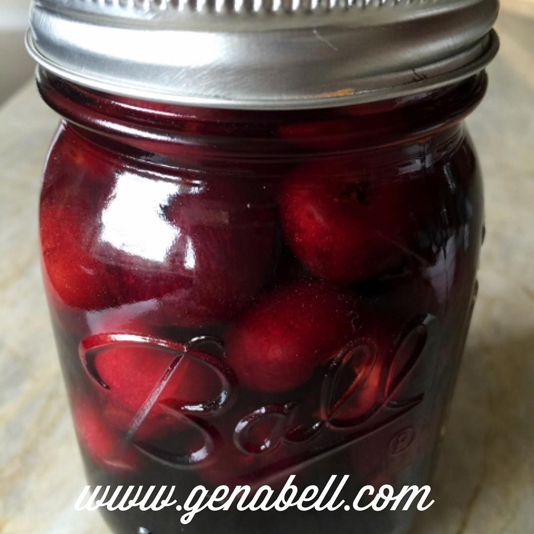 Bourbon Pomegranate Soaked Cherries Recipe! Great in Cocktails or overhellip