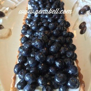 Summer Blueberry Creme Fraiche Tart  Recipe! genabell summer funhellip