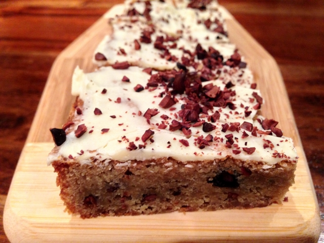 Cocoa Nib Blondies with White Chocolate Glaze – Recipe! Image 1