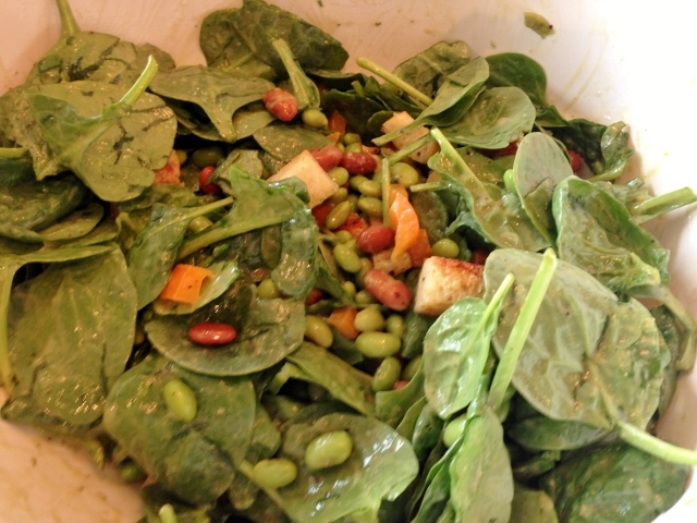 Edamame Spinach Salad with Avocado Dressing – Recipe! Image 7
