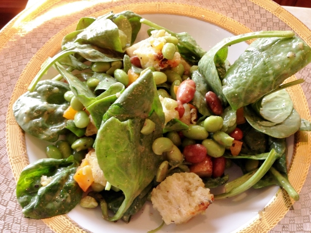 Edamame Spinach Salad with Avocado Dressing – Recipe! Image 2