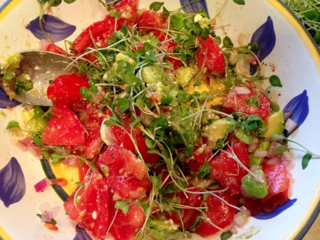 Tomato & Avocado Salad with Feta Dressing 043 (640x480)