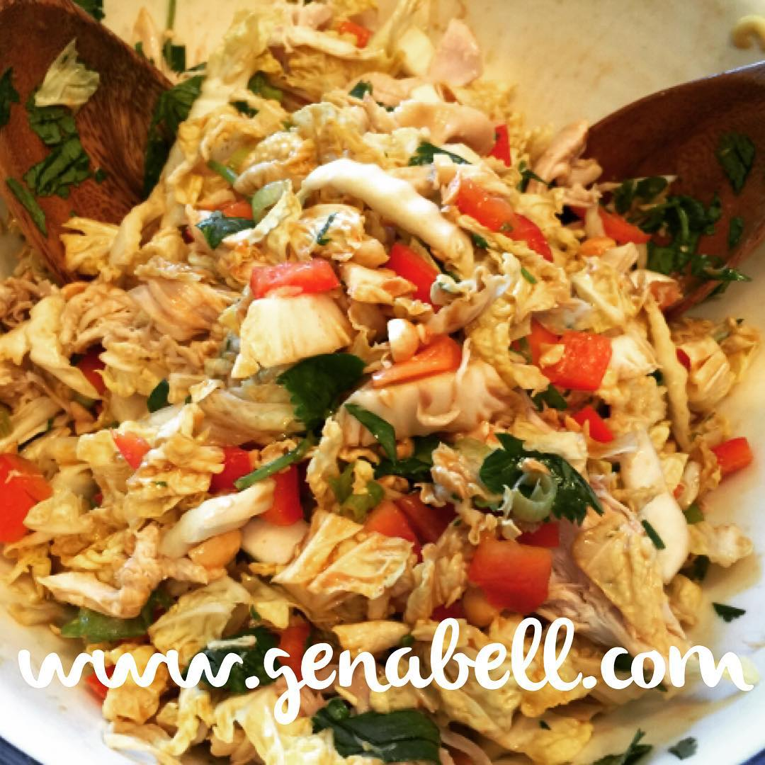 Easy Asian Chicken Salad Recipe! Nocook meals! wwwgenabellcom salads summerhellip