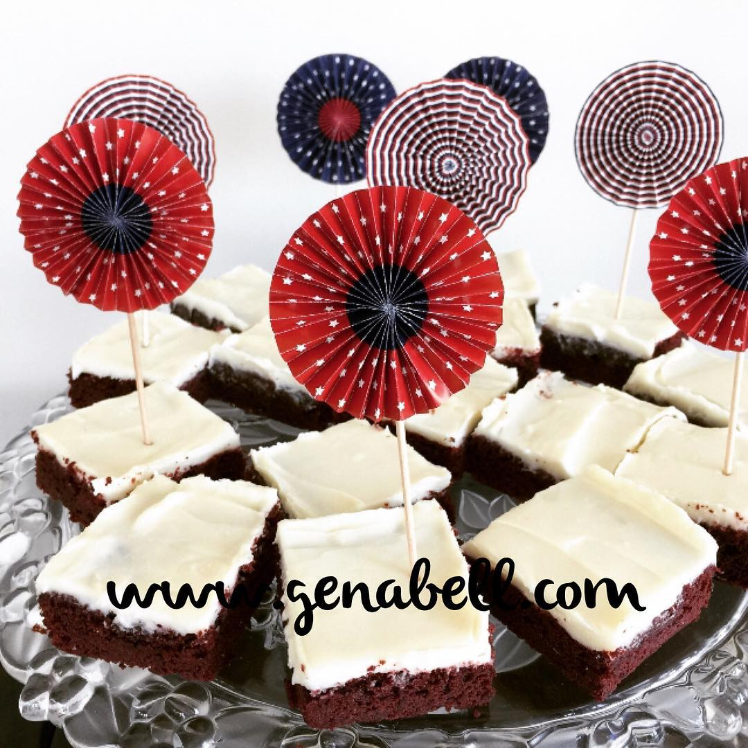 Here it isRed Velvet Brownies Recipe! wwwgenabellcom Start Baking!!! livelovelaughfoodhellip