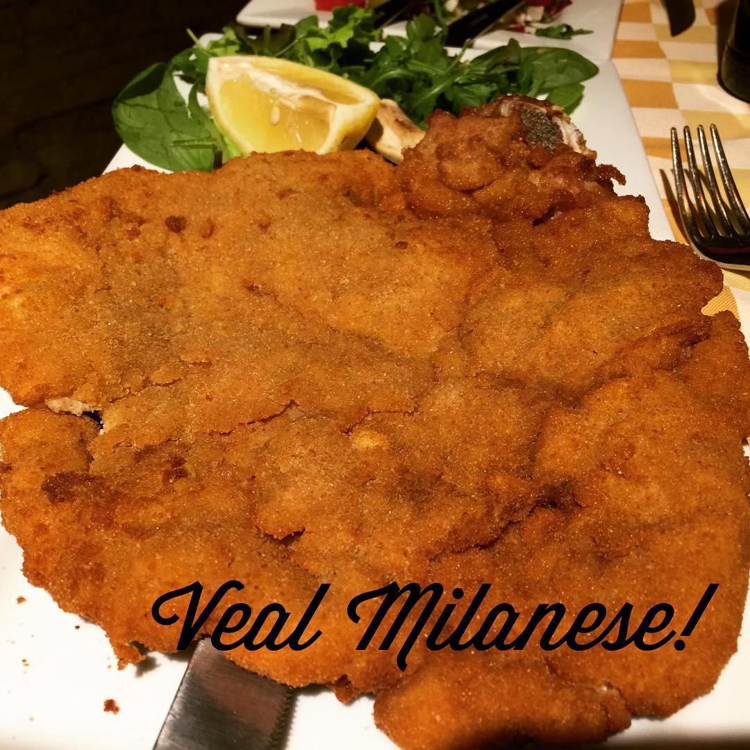 While in MilanEat Milanese!!  Milan Italy Veal Big Enough?!