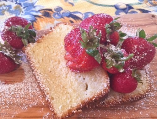 Vanilla Bean Pound Cake with Fresh Strawberries – Recipe!