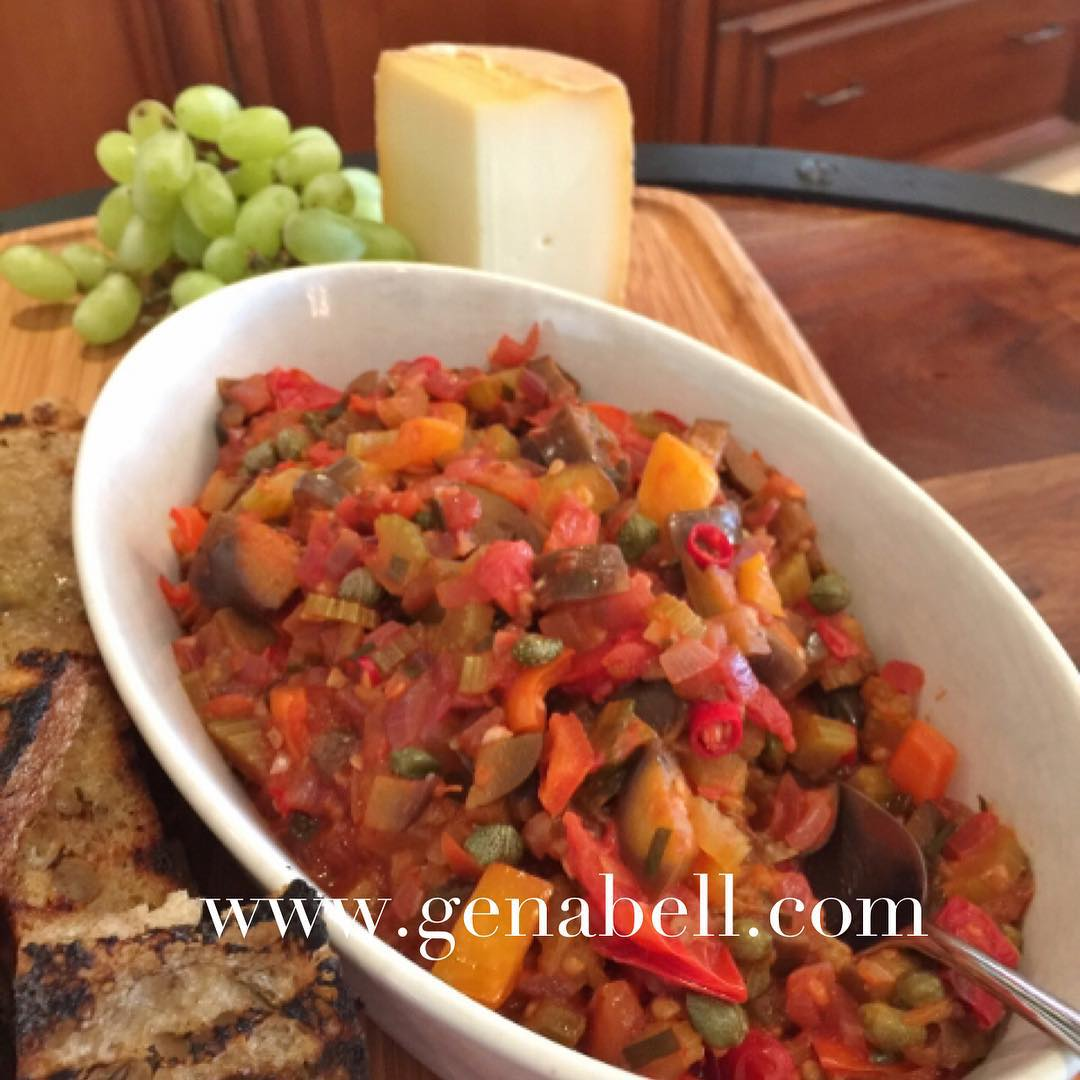 Garden Caponata Recipe! Easy to Make with Fresh Summer Veggies!hellip