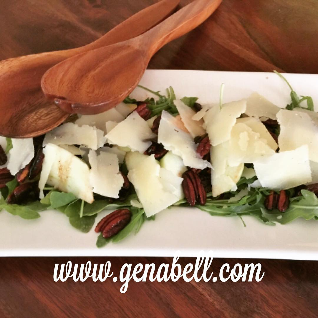 Arugula amp Apple Salad with Toasty Pecan Dressing  Recipe!hellip