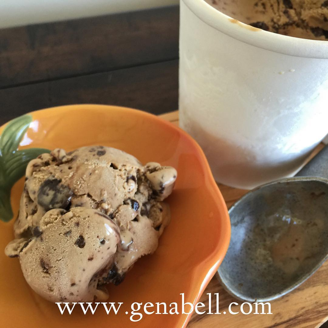 Mocha Double Chocolate Chunk Ice Cream  Recipe! Soooo good!!!hellip
