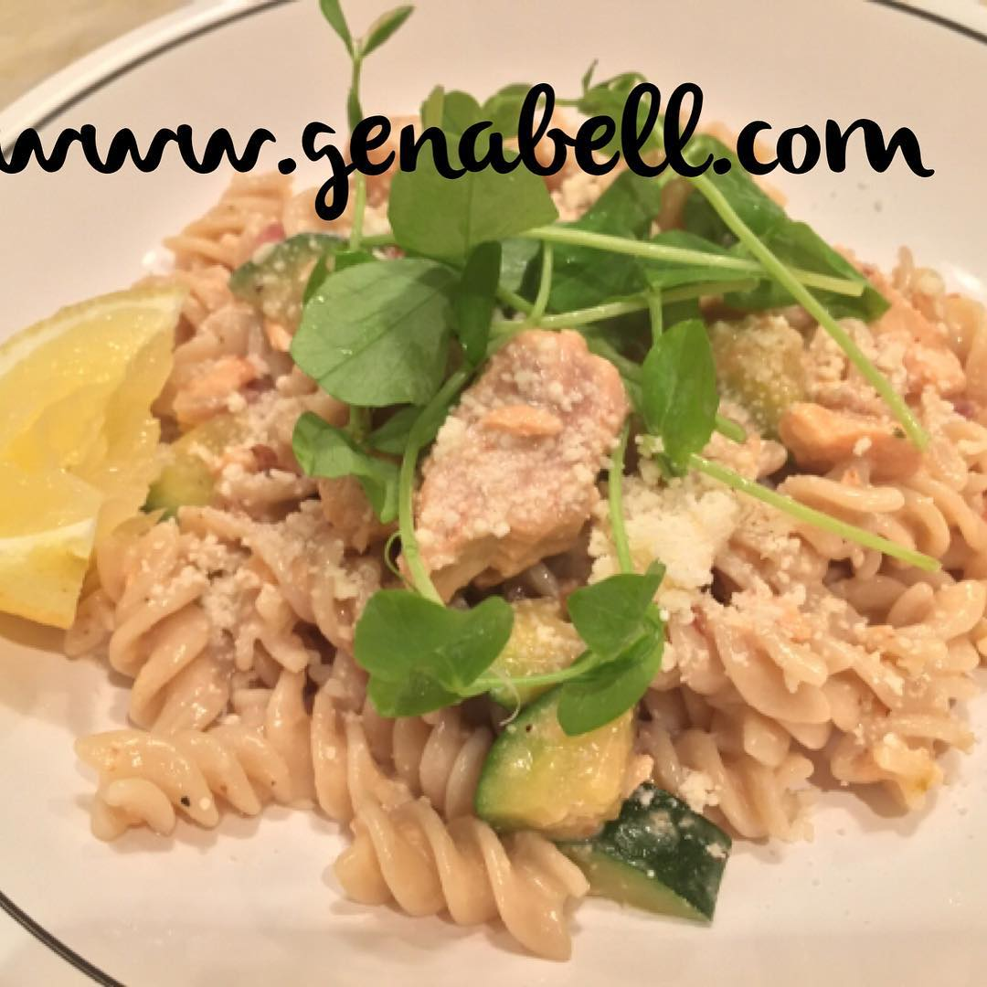 Quick Salmon Pasta in a Spicy Lemon Cream  Recipe!hellip
