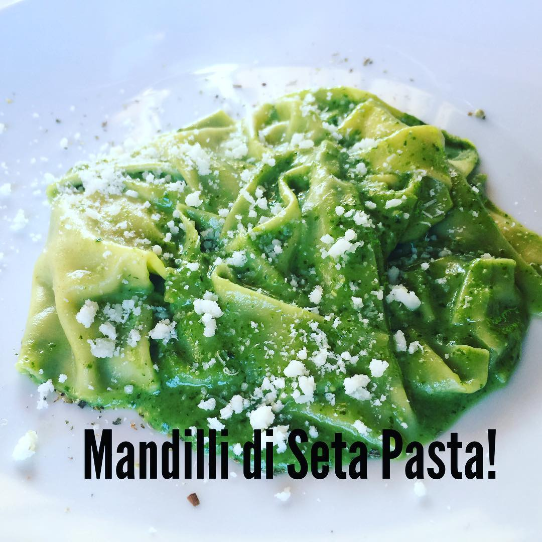 Best Pasta of our trip so far! Handkerchief Pasta madehellip