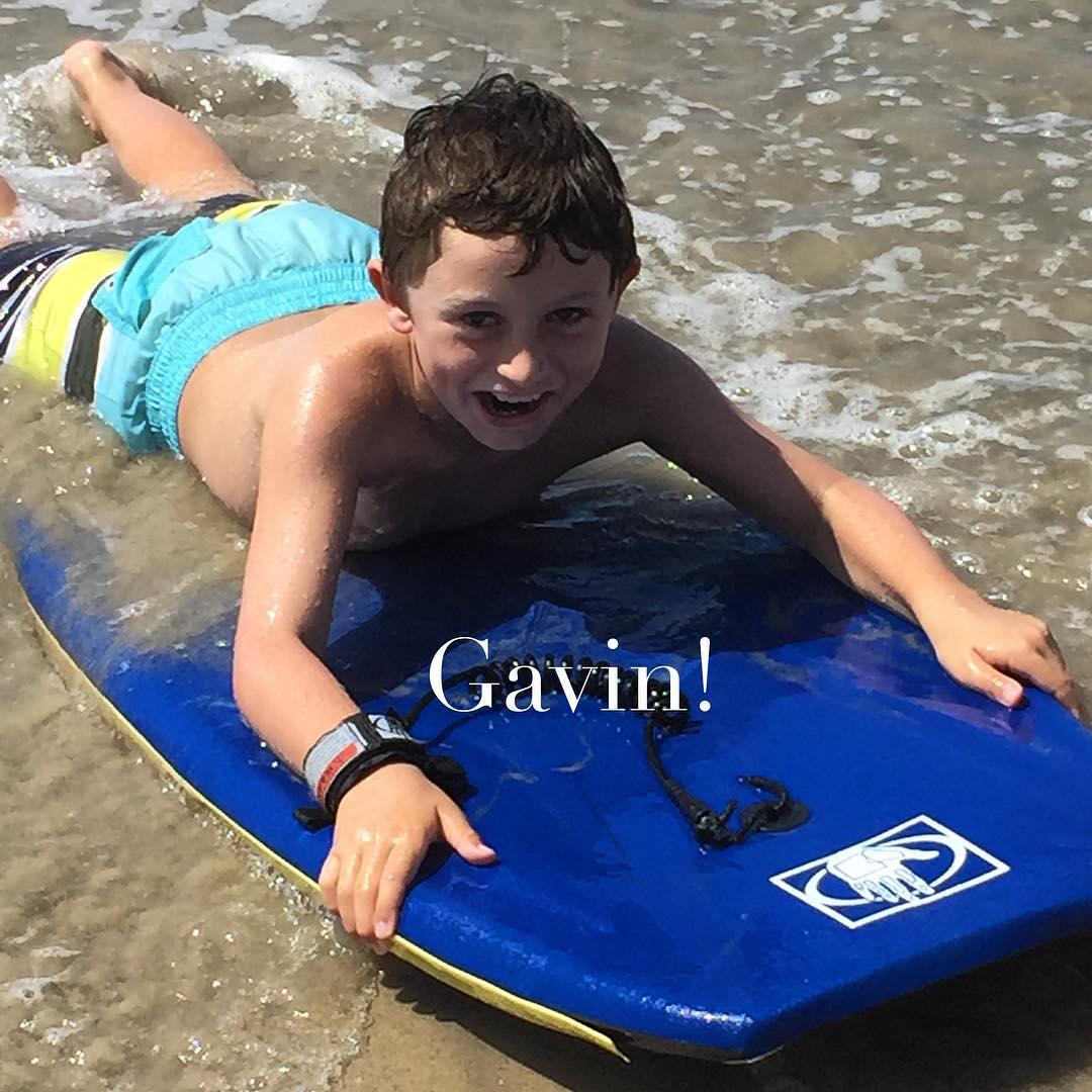 My grandson boogie boarding in San Clemente! Fun in thehellip