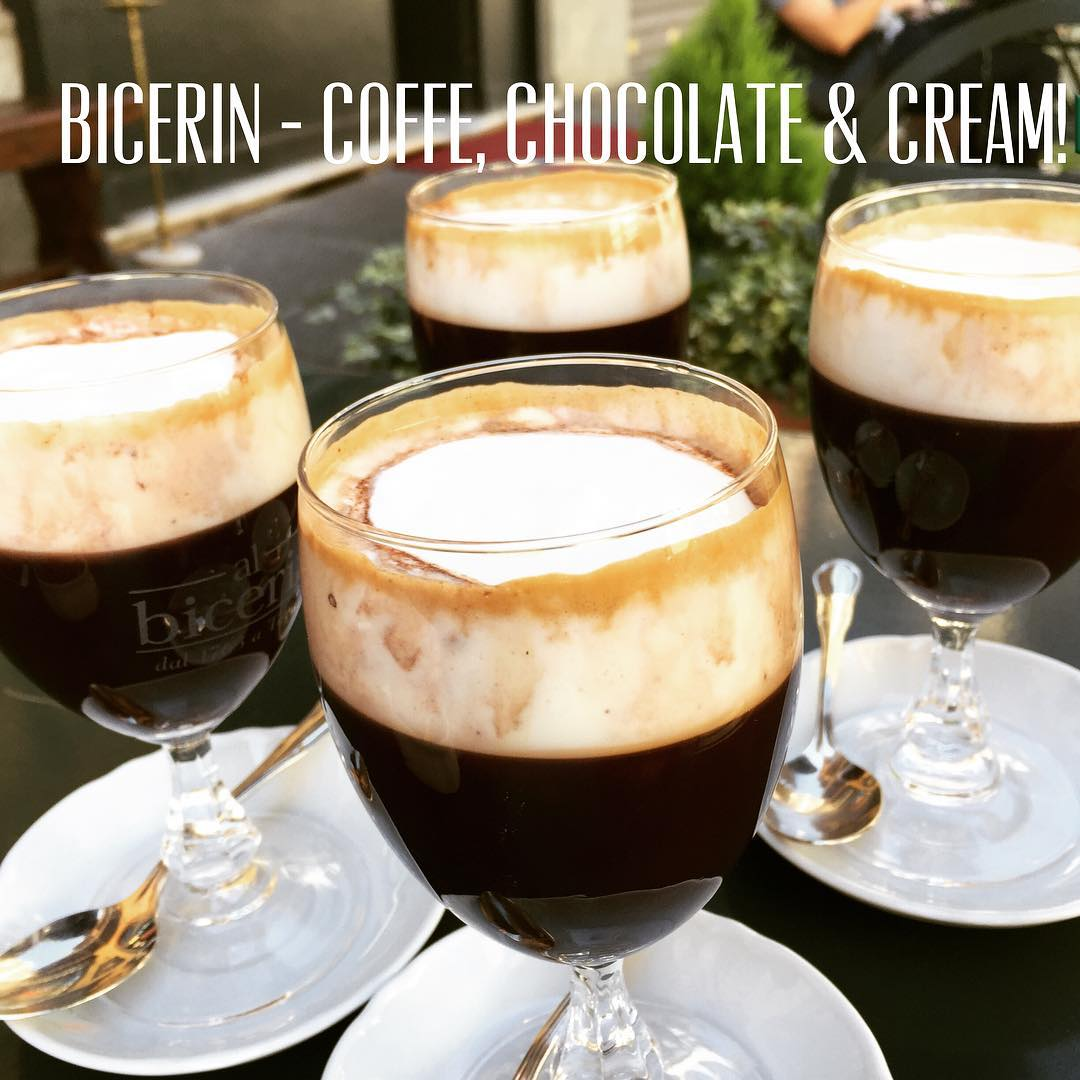 Bicerin only found in Torino Italy! Delicious coffee and chocolatehellip