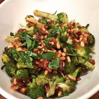 Roasted Broccoli with Pine Nuts amp Dates Recipe! The Perfecthellip