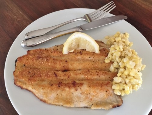 Crispy Trout with Rosemary Cream Corn – Recipe!  Easy to Prepare!