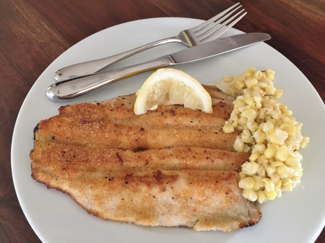 Crispy Trout with Rosemary Cream Corn – Recipe!  Easy to Prepare! Image 1