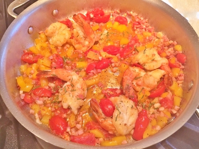 Shrimp Scampi with Pancetta & Tomatoes – Recipe! Image 1