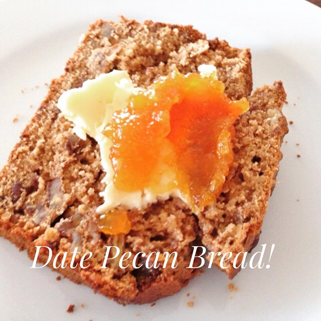 MultiGrain Date Pecan Bread Recipe! wwwgenabellcom Make it for brunchhellip