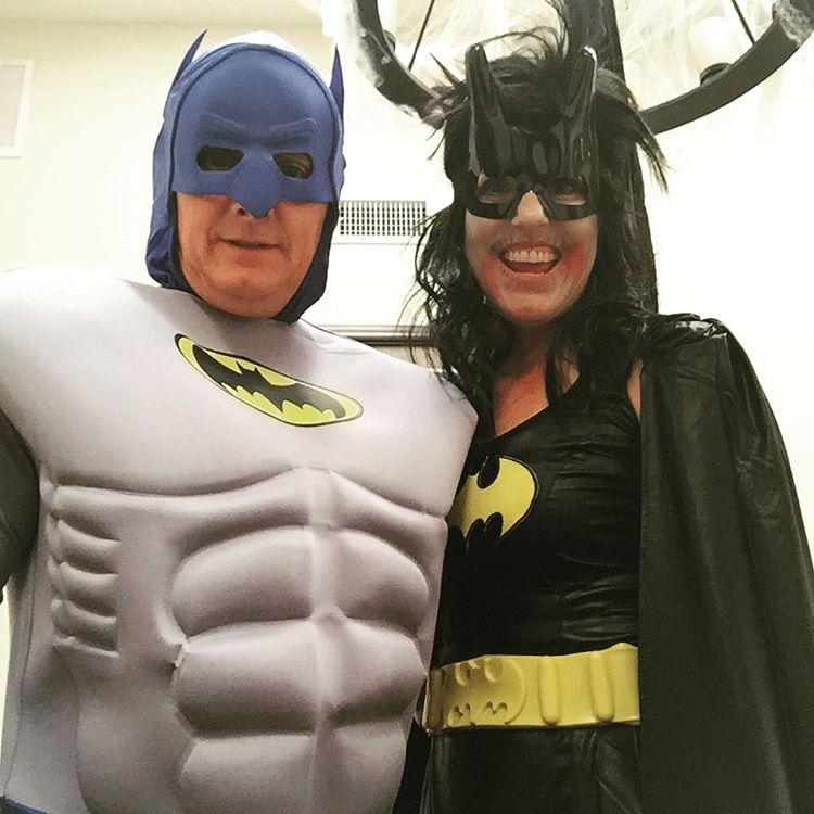 Batman amp Bat Ghoul!! Happy Halloween!! halloween fun batman batghoul