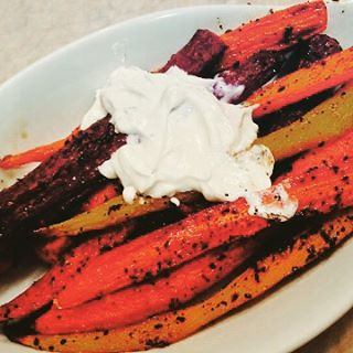 Roasted Rainbow Carrots Recipe! wwwgenabellcom Great side dish with Sundayhellip
