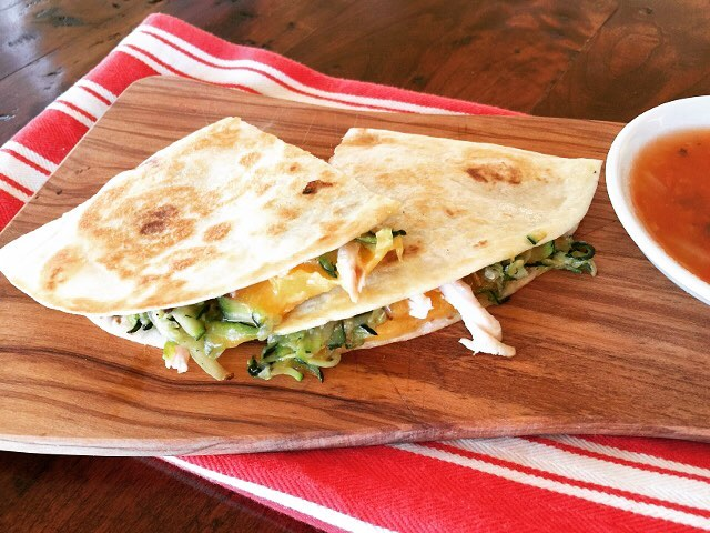 Chicken Cheddar and Sauted Zucchini Quesadillas! A deliciously spicy placehellip