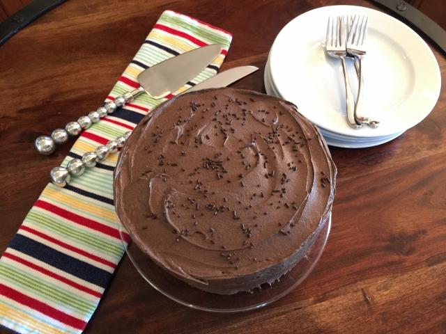 Classic Birthday Cake Recipe!  Yellow Cake & Chocolate Frosting! Image 1