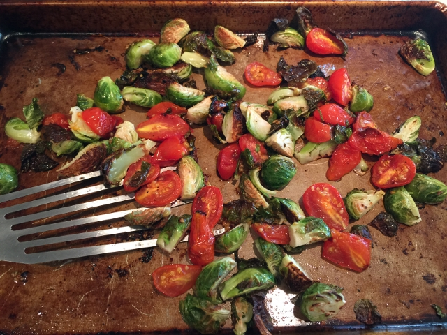 Roasted Brussels Sprouts, Cherry Tomatoes & Salami 016 (640x480)