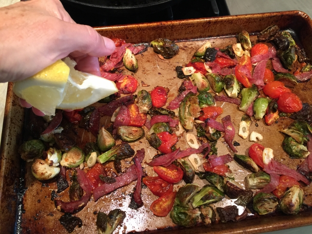 Roasted Brussels Sprouts, Cherry Tomatoes & Salami 044 (640x480)