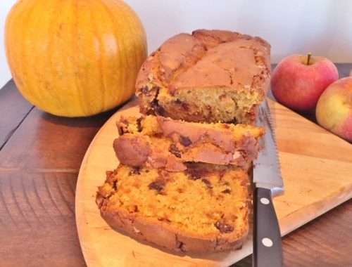 Chocolate & Toffee Chip Pumpkin Bread – Recipe!