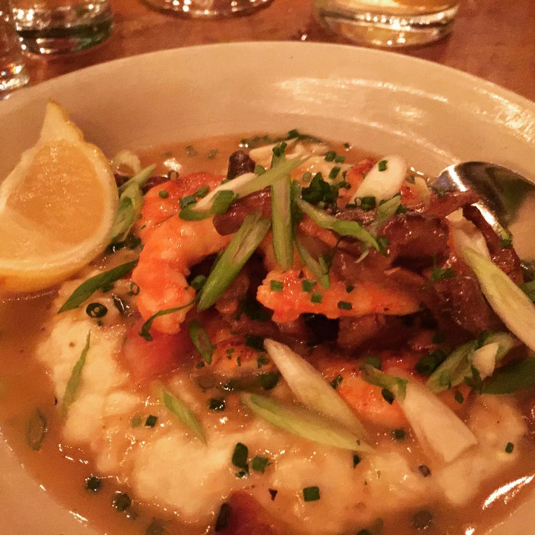 Shrimp amp Grits at Hatchet Hall in Los Angeles! Thehellip