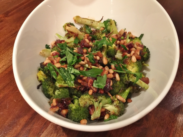 Roasted Broccoli with Pine Nuts & Dates 041 (640x480)