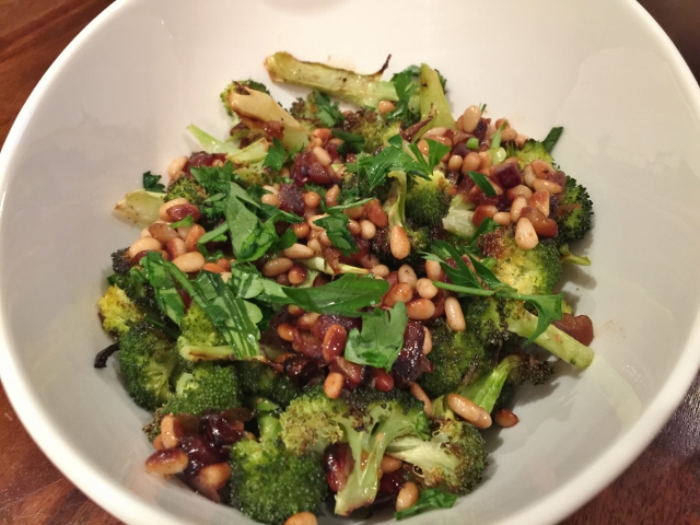 Broccoli with Pine Nuts & Dates – Recipe!  Perfect Holiday Side Dish! Image 1
