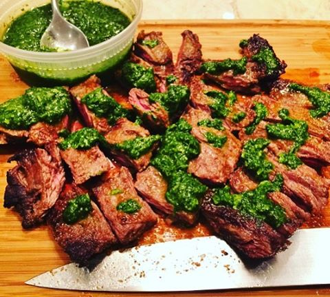 Easy Stovetop Argentinian Beef with Cilantro Chimichurri Recipe! wwwgenabellcom Easyhellip