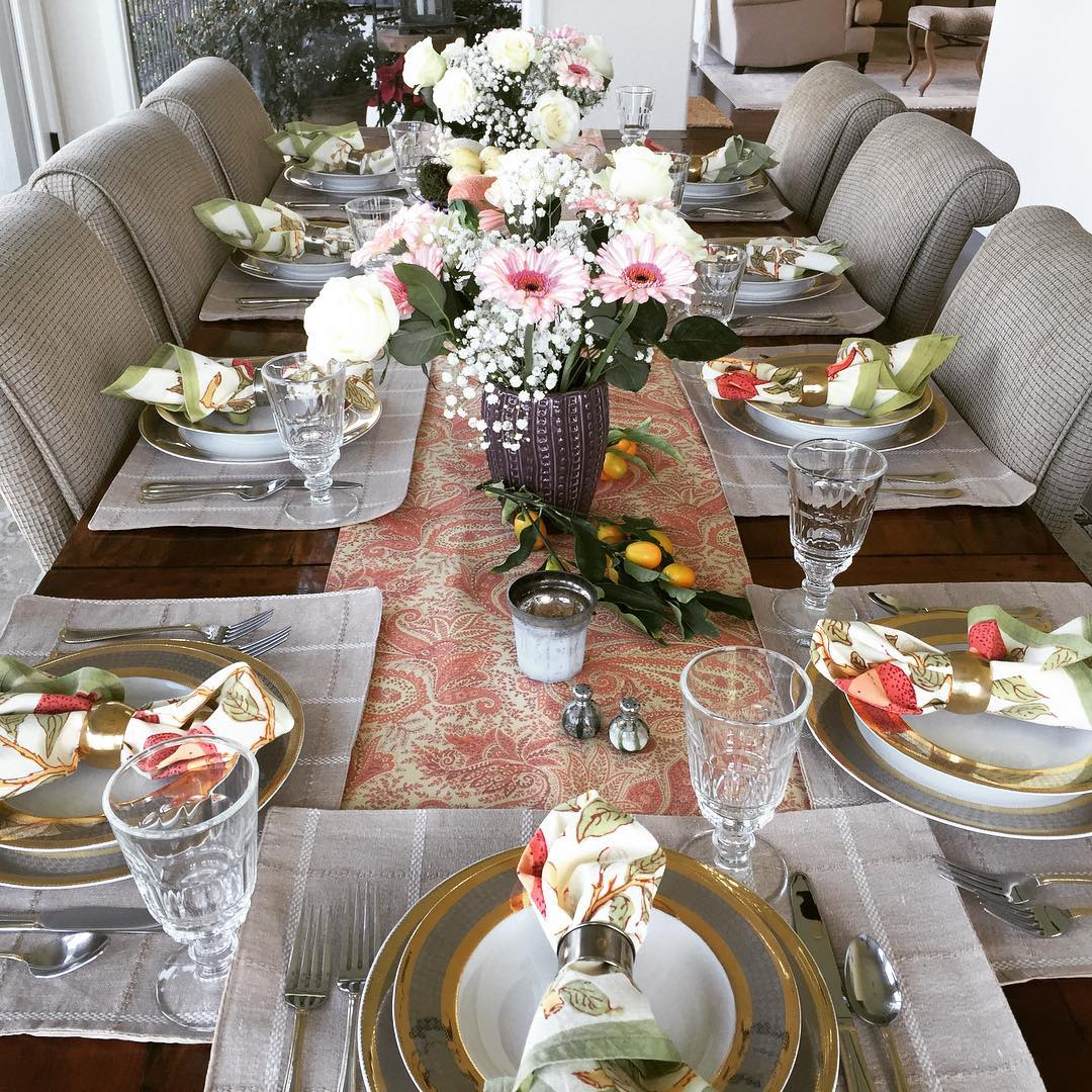 The table is set and its a beautiful day! Happyhellip