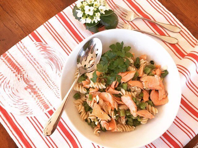 Springtime Salmon Pasta Salad Recipe! Light and Refreshingly Delicious! Greathellip