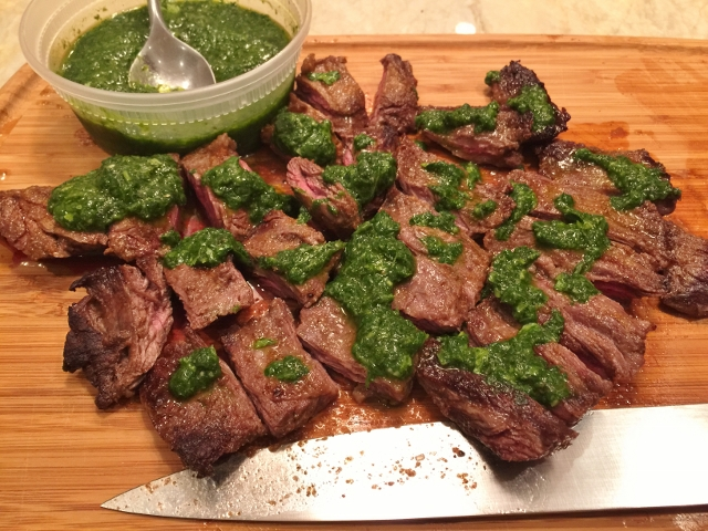 Easy Stovetop Argentinian Beef with Cilantro Chimichurri – Recipe! Image 1