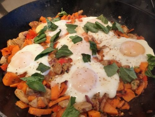 Sweet Potato Hash & Eggs – Recipe!