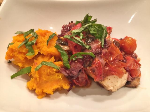 Easy Chilean Sea Bass with Radicchio & Mushroom Sauce – Recipe!  Great Weeknight Meals! Image 1