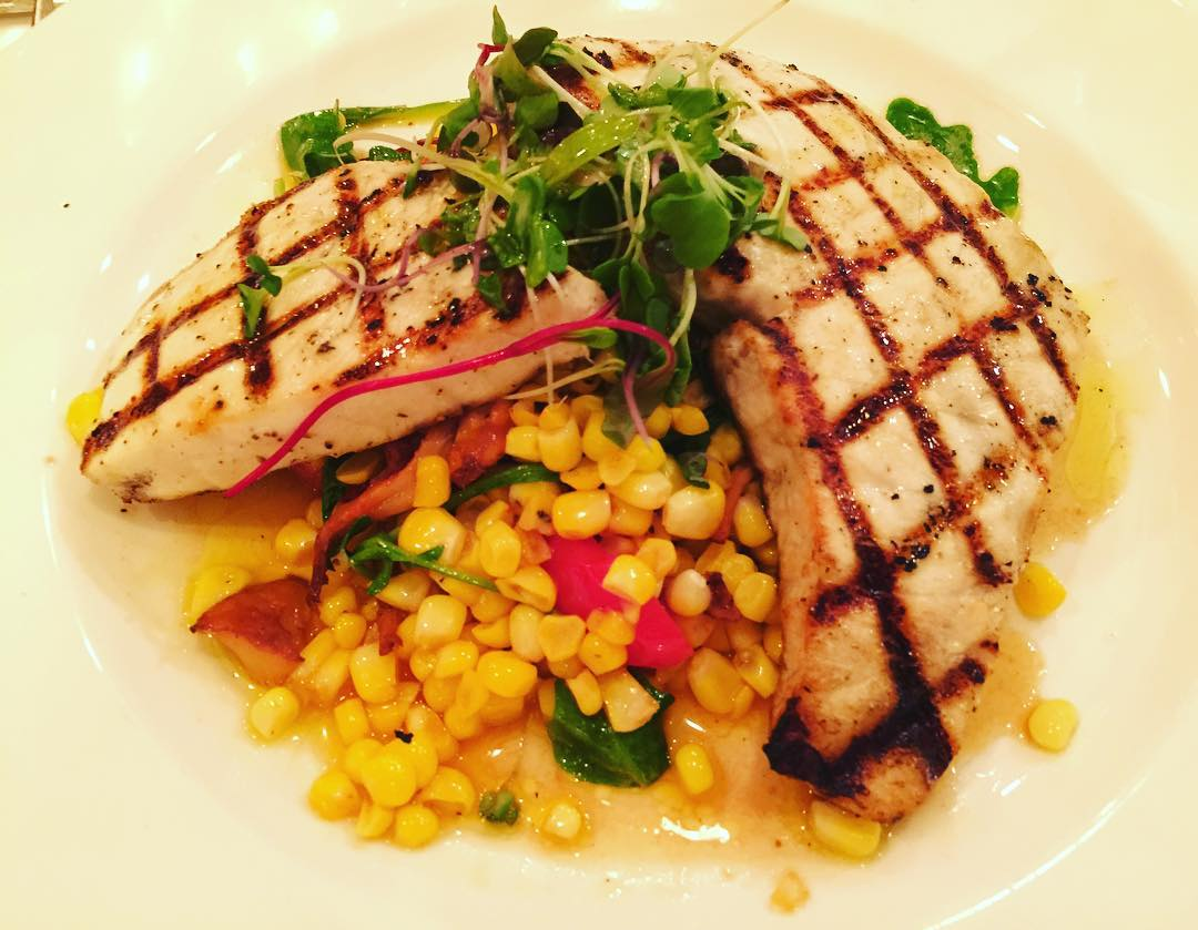 Grilled Swordfish with Summer Sweet Corn! Becco  Theatre Districthellip