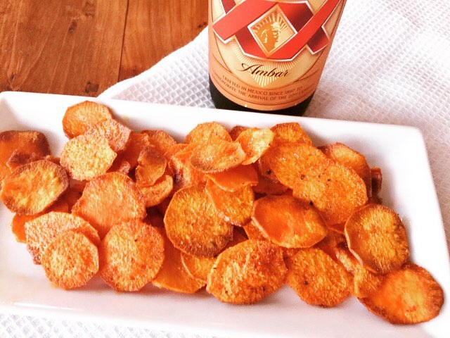 Snack on these  Smoky Baked Sweet Potato Chips! Justhellip