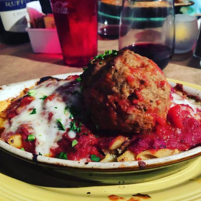 Now thats a Meatball! Mama Ds Manhattan Beach! livelovelaughfood mamadsitaliankitchenhellip