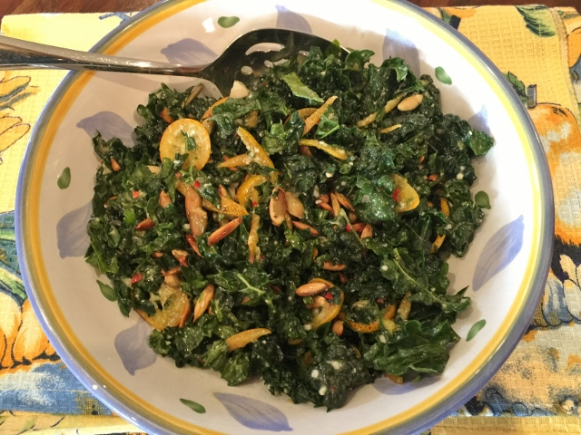 Kale & Kumquat Salad with Jalapeno Vinaigrette – Recipe! Image 1